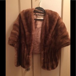 Vintage Lined Fur Stole/Shawl
